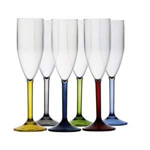 Onbreekbare champagneglazen