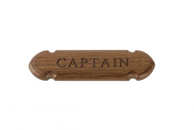ARC Marine Teak Naamplaat CAPTAIN