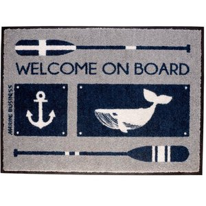Marine Business Welcome Deurmat Anchor